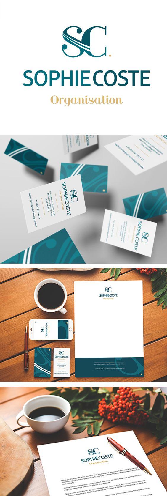 #creation #graphique de l'#identitévisuelle d'une #consultante en organisation ! Mise en place et création d'un #logo #monogramme #vert et #or d'une #carte de visite et d'une ligne de #papeterie Vous souhaitez découvrir l'ensemble de nos projets cliquez-ici ☞ http://l-imaginee.com/creations-graphique-montpellier/