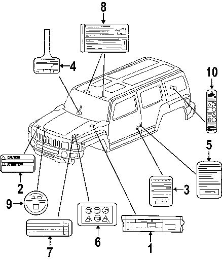 2006 Hummer H3 Parts Gm Parts Genuine Replacement Gm