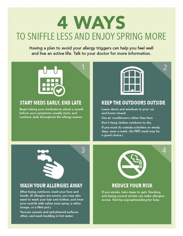 Do symptoms of seasonal allergies have you looking for relief? Here are 4 ways to sniffle less and enjoy spring more!