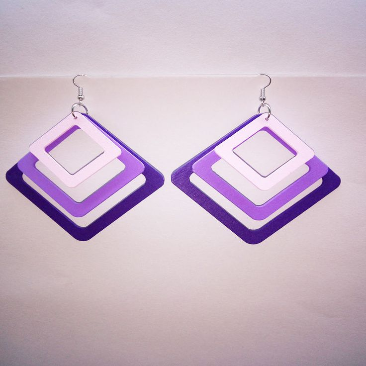 Multi-colored Fashion Jewelry Earrings Big Squares Pendant Earrings Hook Earring #DropDangle