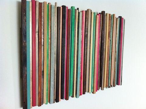dowel rod wall art