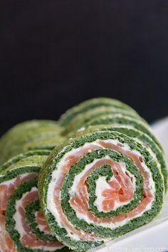 :D Receta Especial de Navidad - Rollo de Salmon y Espinacas - Recetas paso a paso con fotos - Cocina Con Poco