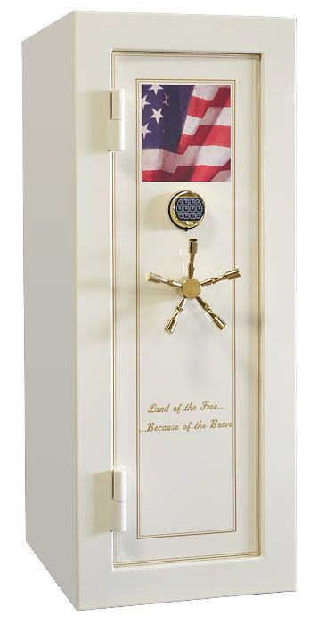 """Custom Design Gun Safes for Sale - """"Land of the Free, Because of the Brave"""" by Vault Pro USA"""