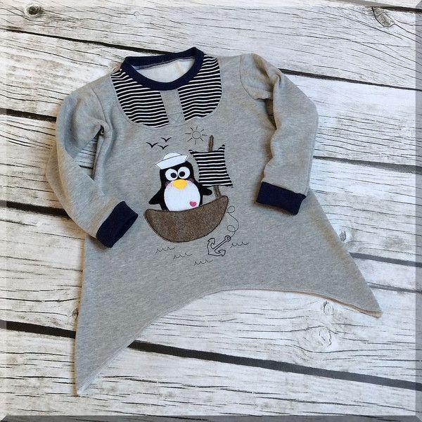 Пуловер Свитер Вершины Хлопка-Shirt Gr. 80-134 maritim - один дизайн кусок сказочную страну на DaWanda