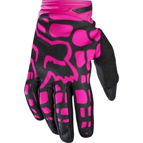 Guante Fox Dirtpaw Women 2017, ideal para uso de moto enduro / cross / quad / bicicleta de descenso.  Fabricado en tejido muy ventilado Palma fabricada en tejido Clarino, con refuerzos acolchados Cierre de muñeca con velcro Silicona antideslizante en dedos