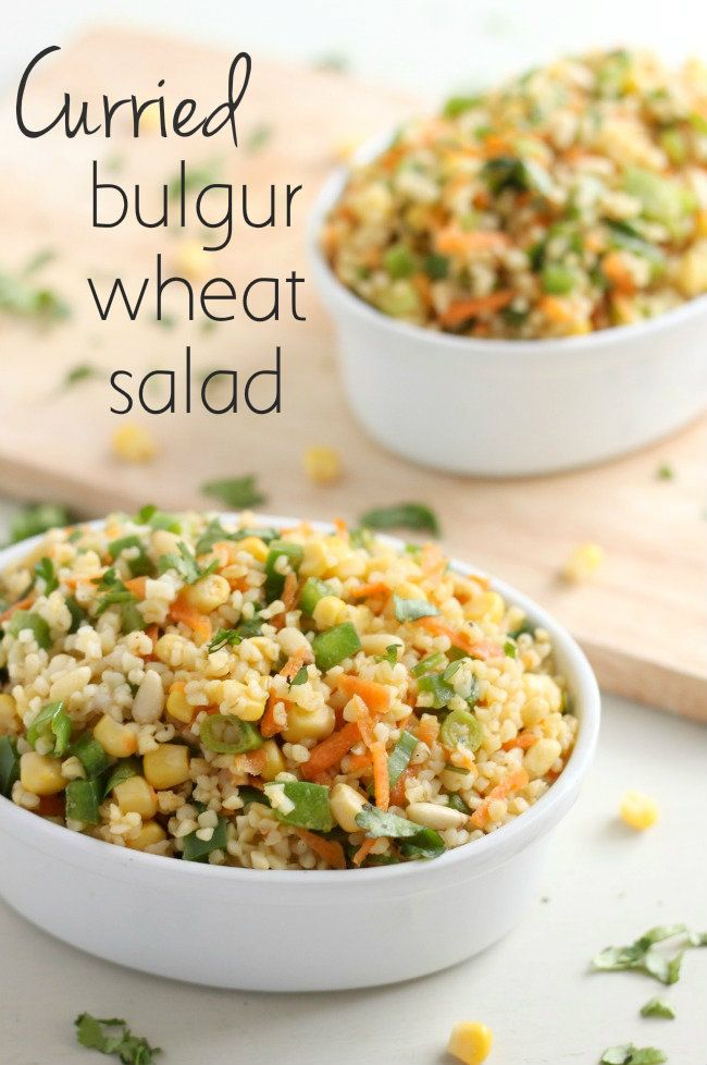 Curried bulgur wheat salad (vegan!)