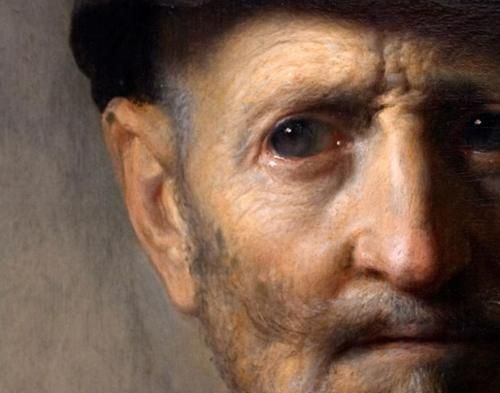 Portrait of a Man (Rembrandt's Father detail).  Rembrandt.