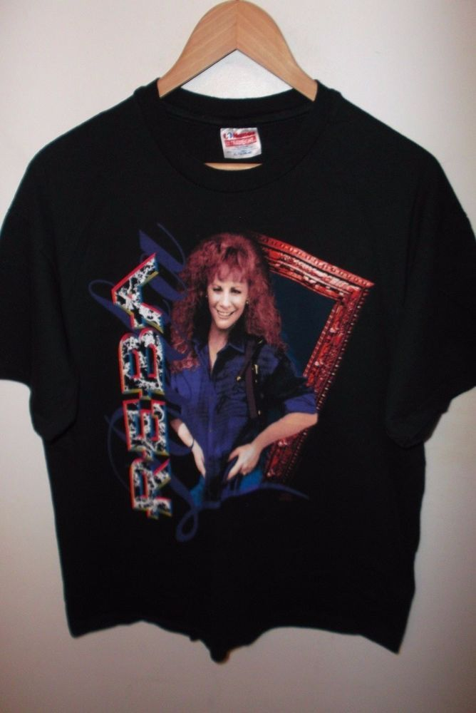 8ae1c682a84 Reba McEntire Tee - Vintage 1992 Reba Country Western Concert Tour T Shirt  Lg XL  RebaMcEntire  GraphicTee  Concert