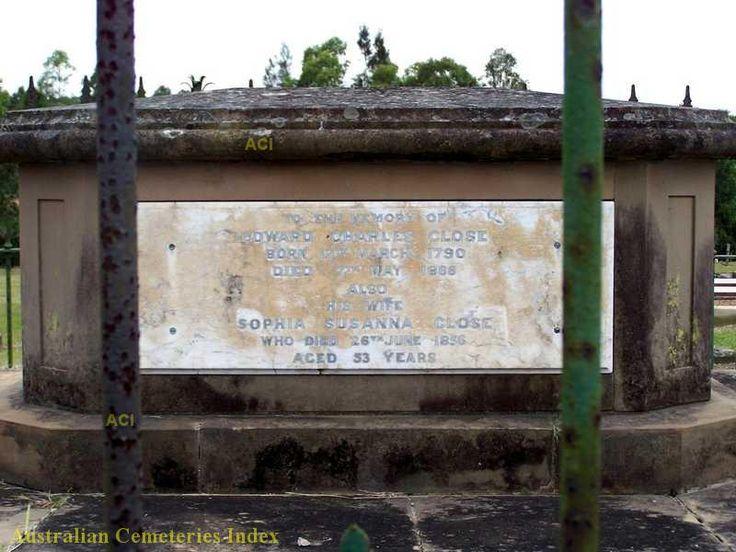 Inscription for Edward Charles Close