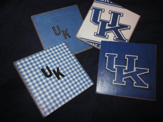 University of Kentucky UK Coasters on Etsy, $20.00   Crafts!   Pinterest   Kentucky and Coasters