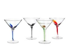 Artland Splash Martini Glasses