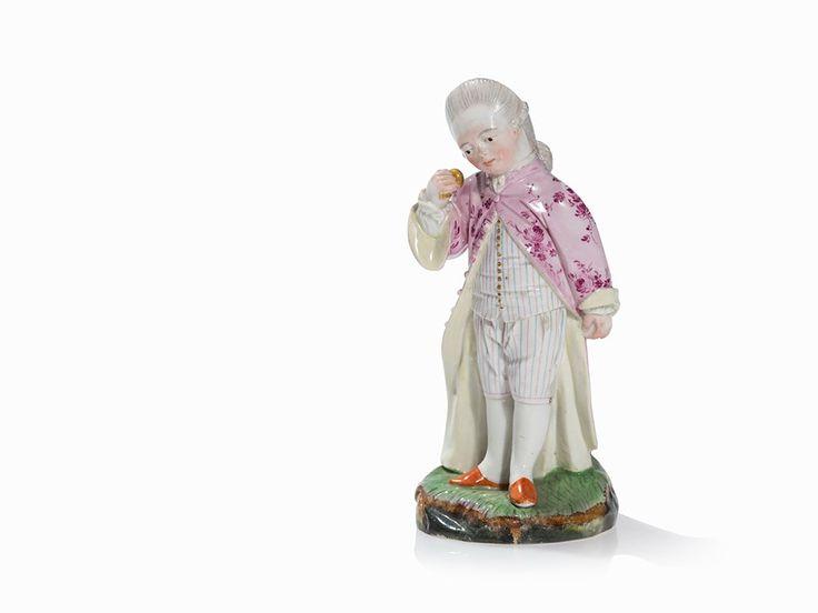 110 | Johann Peter Melchior, 3 Porzellanfiguren, Höchst, 1770er ...