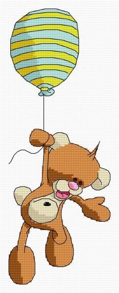 Go up, my balloon! (bear, for children, flying)