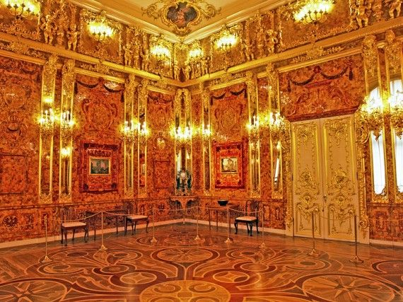 The Amber Room recreation in St. Petersburg