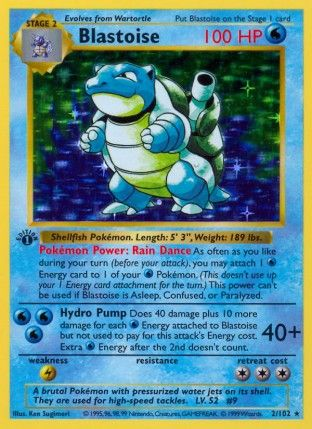 Blastoise pokemon card is awesome. I want one!