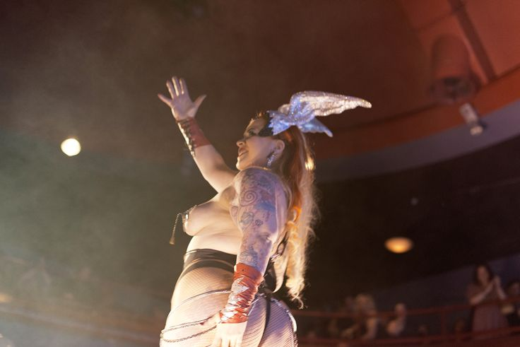 Bettie Blackheart, The Viking Goddess at the Helsinki Burlesque Festival 2013 / Photo Minna Jerrman