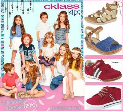 Cklass Kids 2016, Primavera Verano. Catalogo de moda infantil, con moderna ropa y zapatos para niños y niñas. Edición digital Cklas