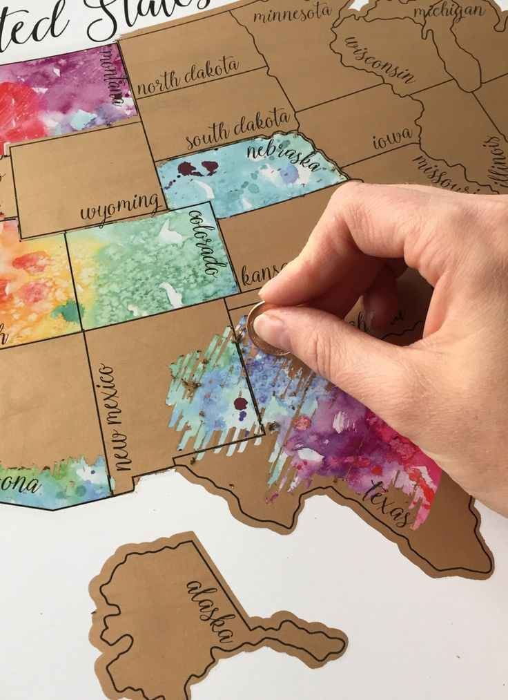 Been there? Scratch that. This map is the perfect gift for the traveler.
