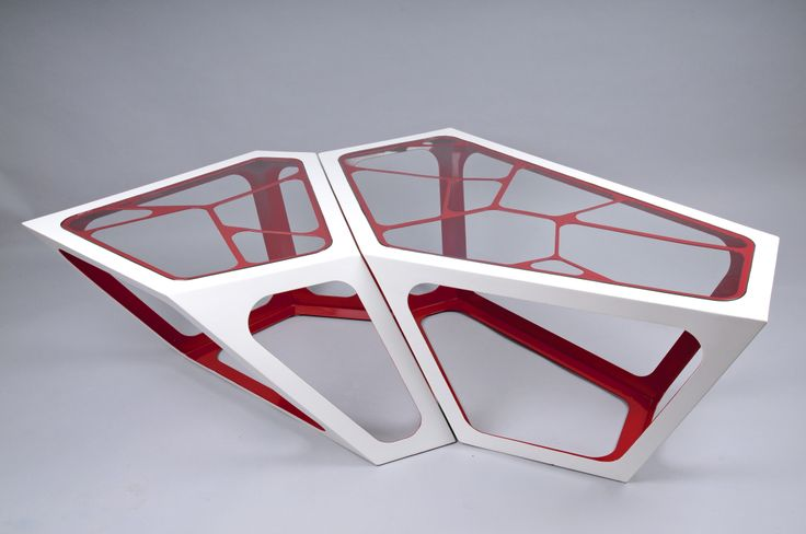 Simplexio Primo - coffee table 2 cells white & red
