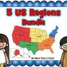 5 US Regions Bundle- AWESOME!!! *Southwest, Southeast, Northeast, Midwest, and West Regions* Interactive, engaging, and kid friendly :0)