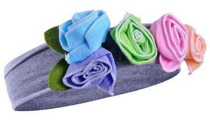 Top Baba Cotton Lányok, Babák Rose és virág fejpánt - fekete / szürke, kék Rose: Amazon.co.uk: Ruházat