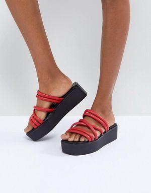 47637a4da70 Vagabond Bonnie Red Strappy Leather Flatform Sandals