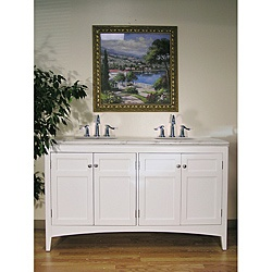 like this one better and it's a better length @Overstock - This double sink vanity is perfect for your next bathroom remodel. Featuring classic design, this traditional furniture piece brings elegance to any home.http://www.overstock.com/Home-Garden/Marble-Top-White-60-inch-Double-Sink-Vanity/5971736/product.html?CID=214117 $1,006.99