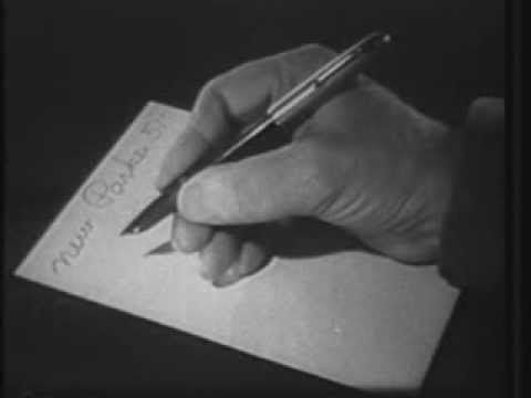 1954 commercial for Parker 51 pen