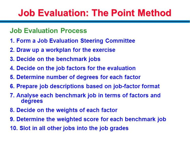 Image result for hay job evaluation scoring matrix Human - evaluating employee performance