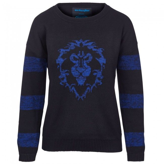 $48 World of Warcraft Alliance Knitted Striped Sweater