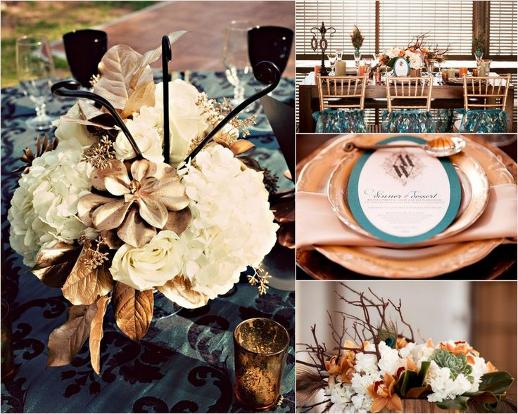 Brown And Teal Wedding Ideas: 17 Best Images About Teal & Copper Wedding On Pinterest