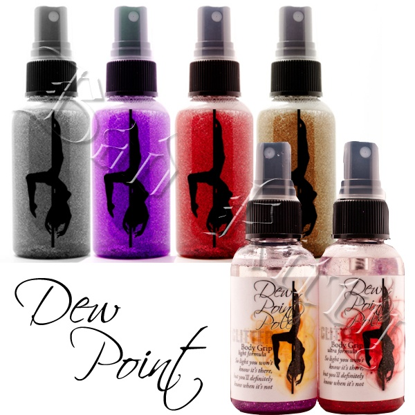 New Dew Point with Glitter!! 2.5oz bottle available in all 3 formulas and in your choice of Crimson, Silver, Bronze or Purple-Plum.