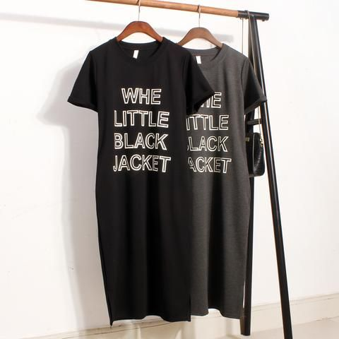 Whe Little Black Jacket Printed Casual Outfit Dress Cute Tops - kawaiimoo