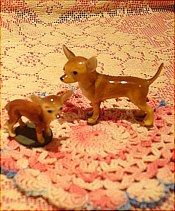 Miniature set of dogs