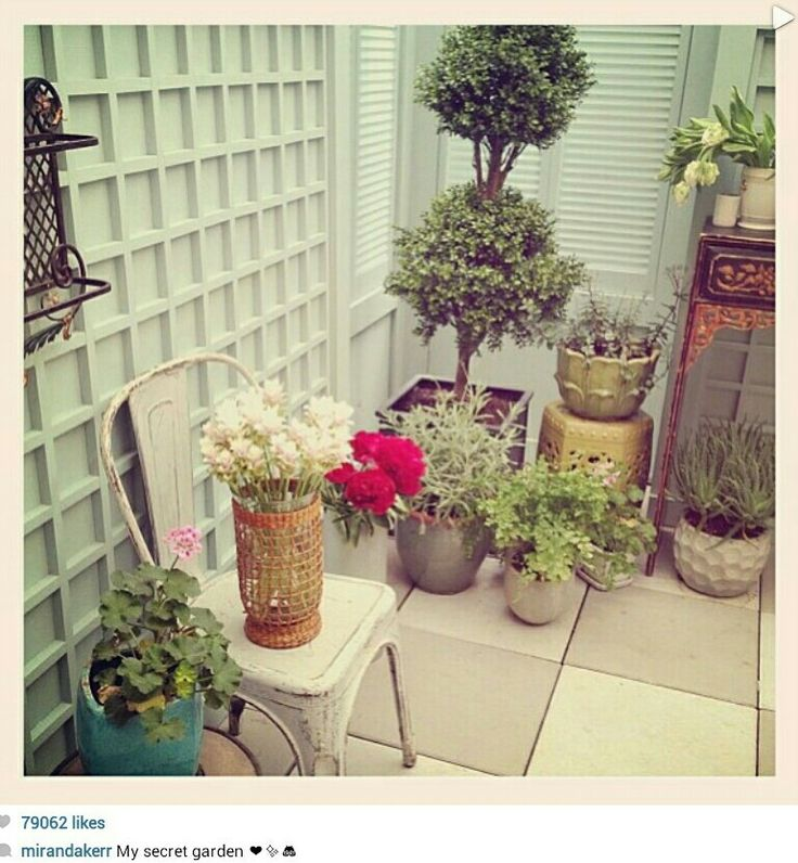 Apartment Garden Miranda Kerr Garden Ideas Pinterest
