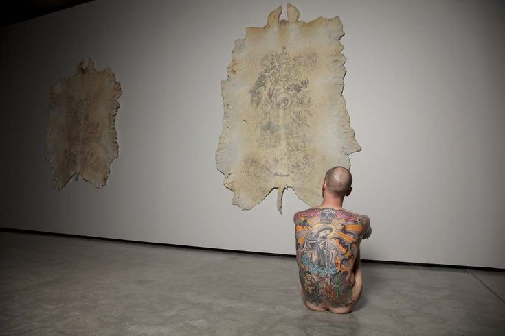 'Tattoo Tim, the first lifesize living artwork, on #slowwords:   I guess you've learned so many things from your life that is uneasy to choose one of them to tell us…     I sat on a box in MONA without moving for almost 13 months. 6 days a week. In the end it was 313 days and 1500 hours. Just sitting there. Looking, thinking. I have learned that life is what we make of it. So simple, yet so difficult. It doesn't matter what you do, but how you do it and how you feel about that. You are in…