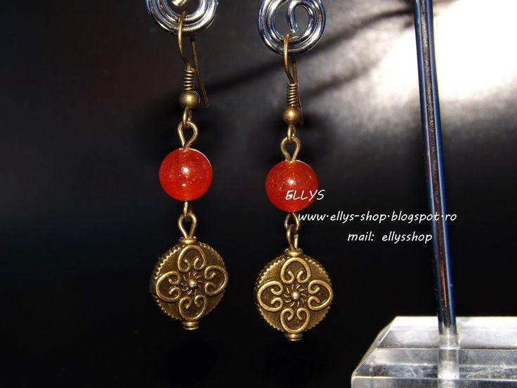 Ellys Shop: Cercei jad si accesorii bronz