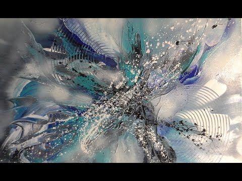 Sleepy Hills  -  Abstrakte Acrylmalerei - Struktur aus Serviette . Abstract Acrylic Painting - YouTube