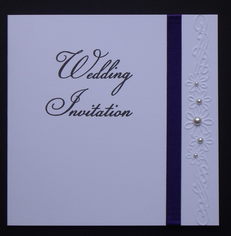 Wedding invitation-sample 3 by: Crazy4flowers