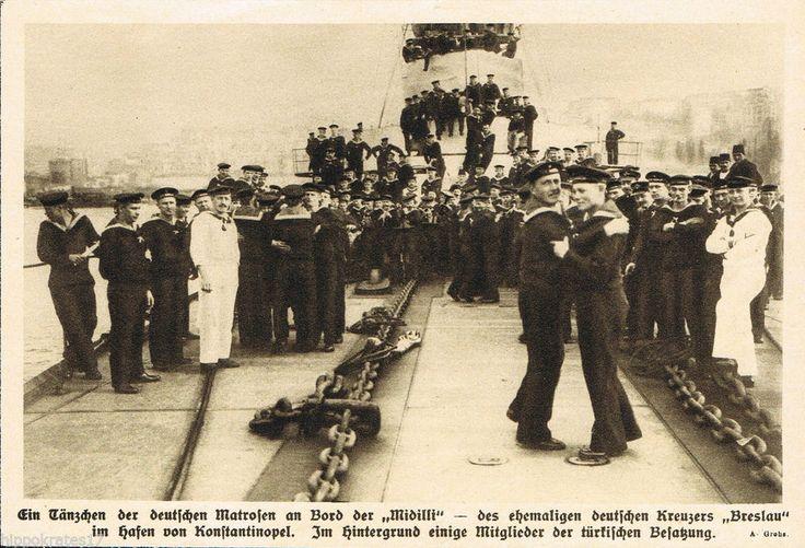 Deutsche Matrosen Kreuzer Midilli Tanz Konstantinopel 1915 WW1  warship (21)