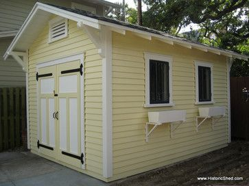 Bungalow style shed via Historic Shed.