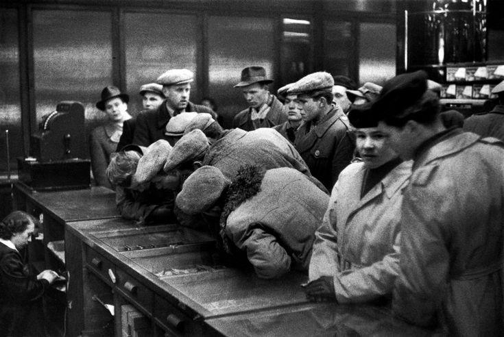Henri Cartier-Bresson - Warsaw. 1956. Department store.