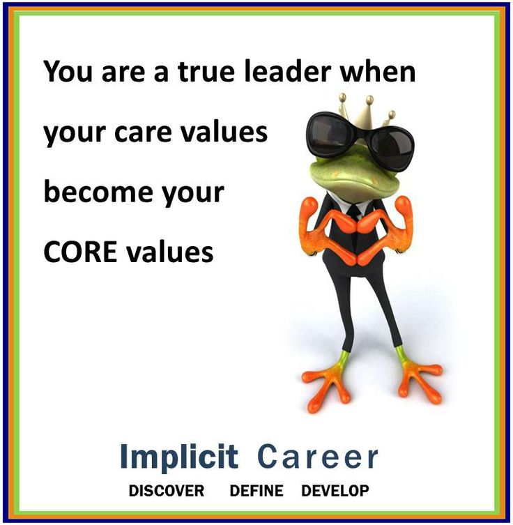 Frog wisdom....Core values #wisdom