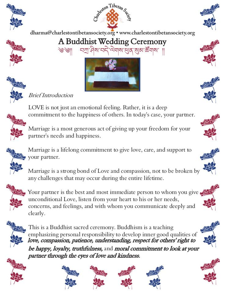 A Buddhist Wedding Ceremony-Page 1