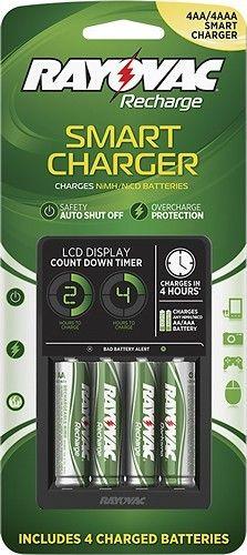 Rayovac® - NiMH/NiCad AA/AAA Battery Charger, Silver