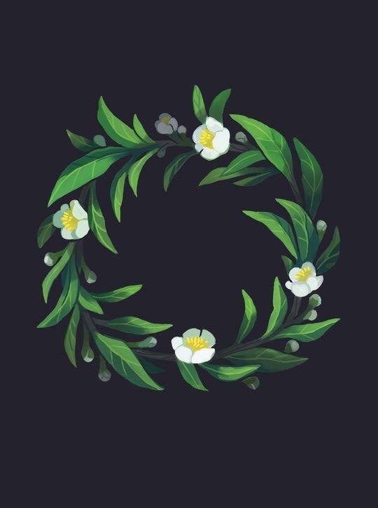 camellia sinensis wreath by Heather Penn