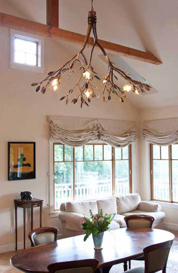 22 DIY Ideas For Rustic Tree Branch Chandeliers | World inside pictures