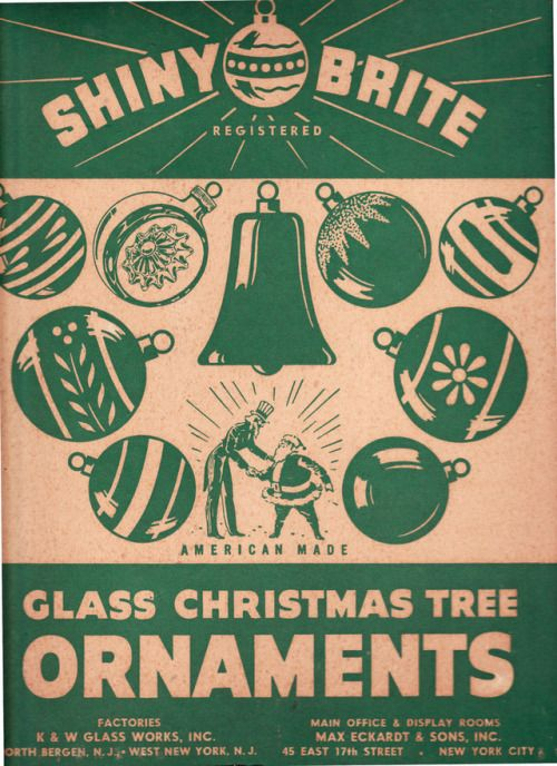 We still have a couple boxes of Shiny Brite glass ornaments from my mother's childhood. © Calsidyrose on flickr