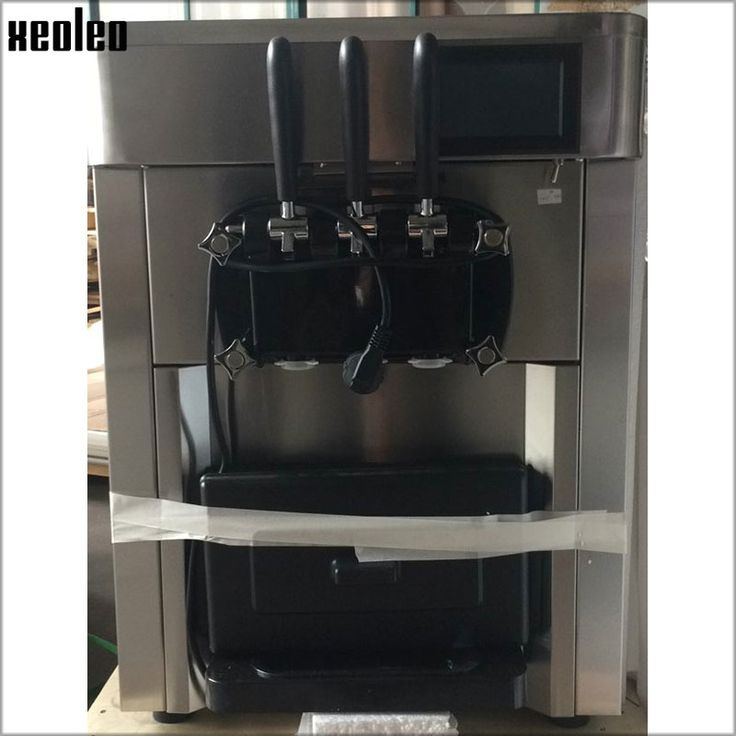 1885.50$  Know more  - Xeoleo 3 Flavors Soft Ice cream maker Stainless steel Ice cream machine Commercial Yogurt Ice cream 2400W Embraco R404a LED