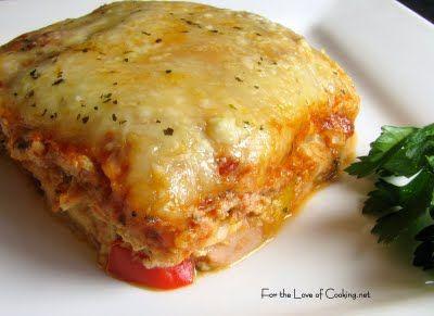 chicken and roasted garlic lasagnaTasty Recipe, Fun Recipe, Garlic Lasagna, Roasted Garlic, Dinner Ideas, Healthy Recipe, Food Recipe, Chicken Lasagna, Lasagna Recipe